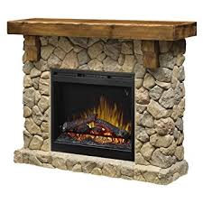 Electric Fireplace With Mantel Dimplex Smp 904 St Fieldstone Pine And Look
