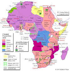 colonial map map colonial africa in the twentieth century