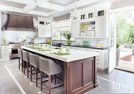 Designer Kitchen Stools Contemporary Kitchen Wit Leather Gray Stools Luxe Interiors Design