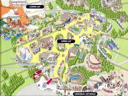 Usc Parking Map Universal Studios Los Angeles Map