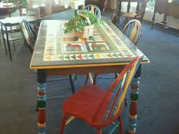 Painted Kitchen Tables And Chairs by Hand Painted Kitchen Table With 4 Chairs Cherry Pickin U0027s Home