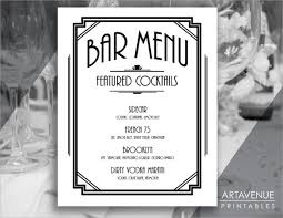 drink menu template free cocktail menu template
