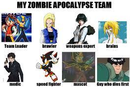 Zombie Team Meme - my zombie apocalypse team by girlwiththeblueblood on deviantart