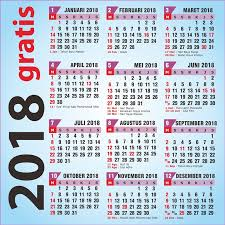 Gambar Kalender 2018 Lengkap Gratis Kalender 2018 Plus Libur Nasional Versi Corel Draw