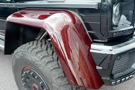 mercedes benz g class 6x6 interior brabus mercedes benz g63 amg 6x6 now sports red carbon fiber for