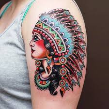 wolf tattoo behind ear collection of 25 indian chief n wolf tattoo on upper arm
