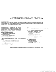 nissan canada maintenance schedule nissan sentra 1997 b14 4 g owners manual