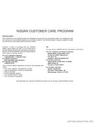 nissan canada customer service nissan sentra 1997 b14 4 g owners manual