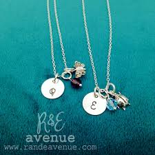 Monogrammed Necklace Girls Monogrammed Necklace R U0026 E Avenue