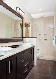 Guest Bathroom Shower Ideas Long And Narrow Guest Bath Transitional Bathroom Other Metro
