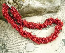coral necklace red images Red branch coral necklace in 3 vibrant twisted strands quot oxblood quot red JPG
