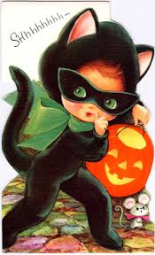 vintage greeting card fall into halloween pinterest