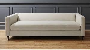 cb2 sofa bed linen sofa in custom order upholstery reviews cb2