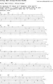 Blind Chords Blues Guitar Lesson For Ditty Wah Ditty Blind Blake With Chords