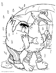 alice sesame street coloring pages free
