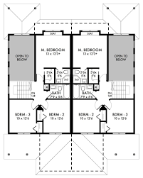 Homeplan Com by Craftsman Duplex Home Plan Back To Stock Home Plans Ifmore