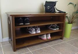 Bench With Shoe Storage Modern Shoe Storage Bench Styles