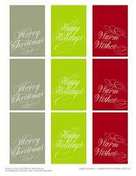free calligraphy holiday gift tag printable