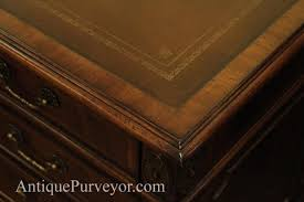 Executive Desk Games by Antique Reproduction Traditional Mahogany Leather Top Executive