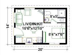 tiny floor plans 14 x22 one bedroom one bath cottage 308 sf tiny homes
