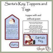 santa key magical santa santa key key and craft
