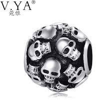 skull bracelet charms images Skull charms beads fit pandora necklace bracelet for man pandora jpg