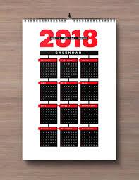 Calendar 2018 Ai Template Free 2018 Wall Calendar Printable Design Template In Ai Pdf Eps