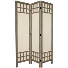oriental furniture 5 1 2 ft tall window pane fabric room divider