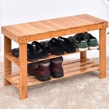 bench with shelf storage and set shelves underneath