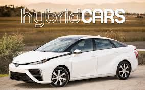 hydrogen fuel cell car toyota 2016 toyota mirai fuel cell car first drive hybridcars com