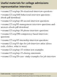 resume for college admission interviews admission representative sle resume