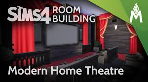 home theater rooms the sims 4 room building modern home theatre youtube