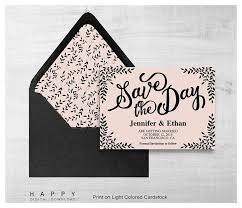 save the date template rustic leaves save the date template happy digital