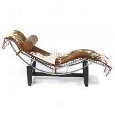 preferred brown chaise lounge chair by le corbusier inside corbusier style lc4 chaise longue pony leather