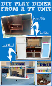 pretend kitchen furniture diy imaginative play diner from a tv cabinet