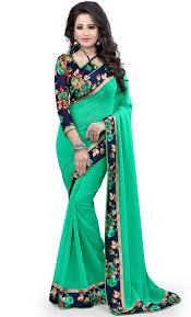 saree blouse buy basant designer chiffon saree with blouse piece003 at 61
