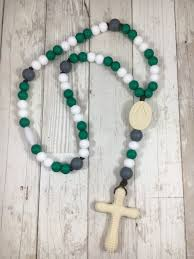 white rosary team rosary green white chews