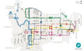 pasadena ca map pasadena transit