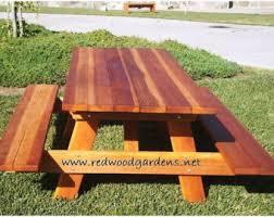 redwood bench etsy