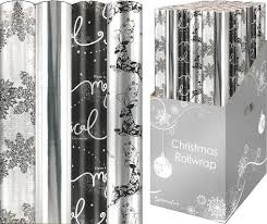 silver wrapping paper 4 x christmas wrapping paper rolls reindeer white silver