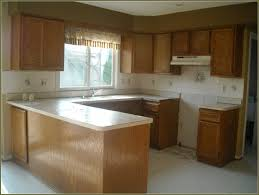 Refinish Oak Kitchen Cabinets by Refinishing Oak Cabinets Before And After Pictures Monsterlune