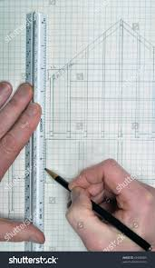 house floor plan architect on grid stock photo 43406083 shutterstock