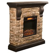 Comfort Flame Fireplace Comfort Glow Qsf8212r Yorkshire Castle Stone Mantel With Ir Quartz