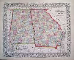 Alabama Florida Map by Antique Maps Of Georgia