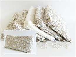 bridal makeup bag bridal handbag floral lace cosmetic purse gift for