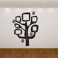 personalised family tree wall sticker small almo art family