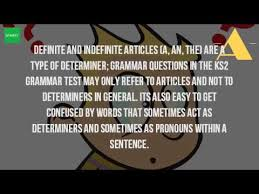 what is the article in a sentence ks2 youtube