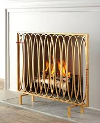 brass fireplace screen with glass doors vintage 1505 interior
