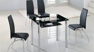 Black Glass Dining Table And 4 Chairs Tremendeous Small Square Clear Black Glass Dining Table And 4