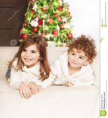 lovely children at christmas party royalty free stock photography